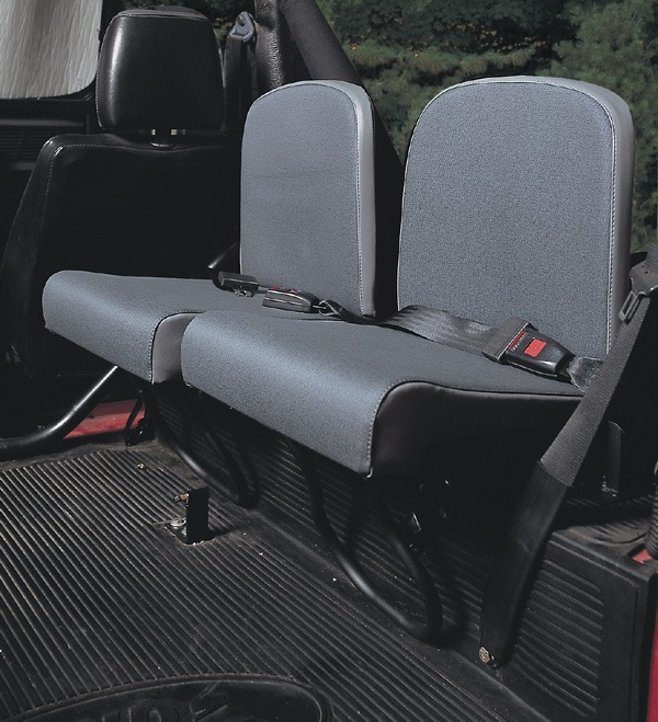 Trakker Rear Jump Seats By Exmoor Trim, Twill Vinyl, Pair, For Land Rover Defender And Series 2, 2A And 3