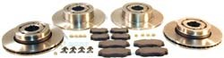 Discovery Series II Brakes, Complete Front And Rear Brake Kit With Standard Rotors, Lockheed Pads And Replacement Hardware