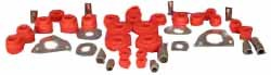 Polybush Set - Front & Rear Suspension (Red/Firm)