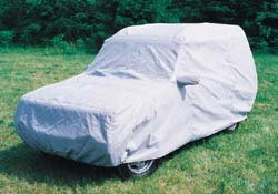 Discovery Series II under car cover
