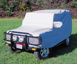 Defender 90 with car cover