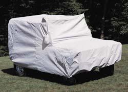 Defender 110 under car cover