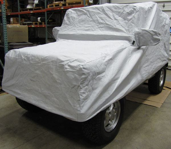 Evolution Car Cover By Covercraft, Gray, Half-Top For Land Rover Defender 90