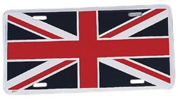 Union Jack license plate