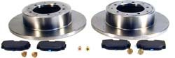 Rear Brake Rebuilding Kit With Ferodo Pads And Standard Rotors For Discovery Series 2 And Range Rover P38