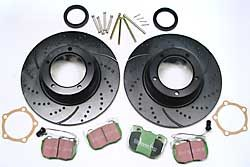 EBC Performance Front Brake Rebuild Kit, 3GD Series Sport Brake Rotors And Greenstuff Pads For Land Rover Discovery 1