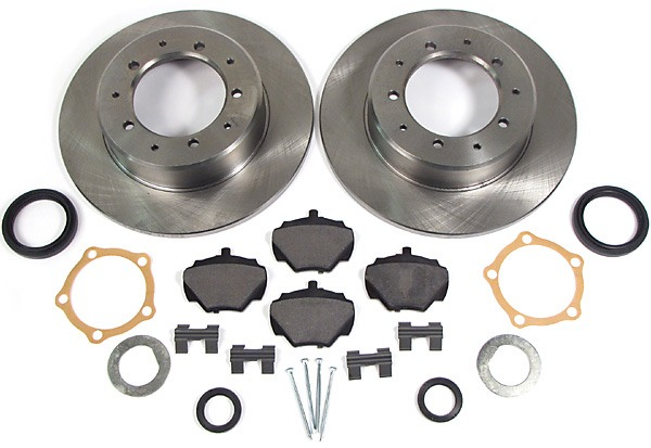 brake rotors, pads and hardware