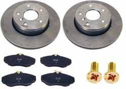 Land Rover brake rotors, pads and hardware