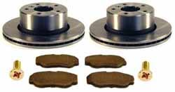 Front Brake Rebuilding Kit For Land Rover Discovery Series II, Includes Ferodo Pads, Standard Rotors And Locator Screws
