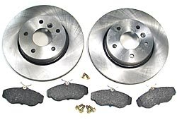 Front Brake Rebuilding Kit With Ferodo Pads And Standard Rotors For Range Rover P38