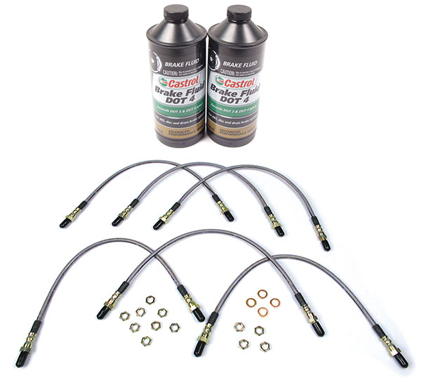 Stainless Steel Performance Brake Hose And Fluid Kit For Range Rover Classic (1990 - 1991)