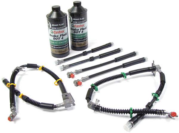 Range Rover Sport brake hose kit with Castrol brake fluid