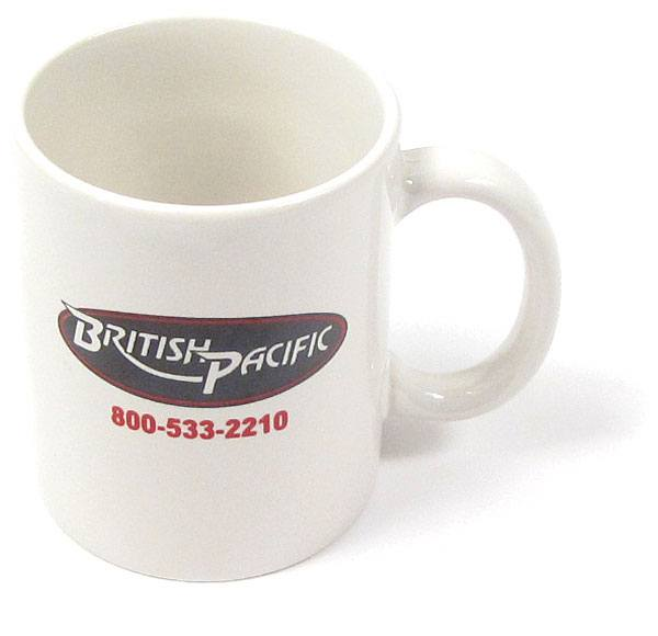 British Pacific coffee mug