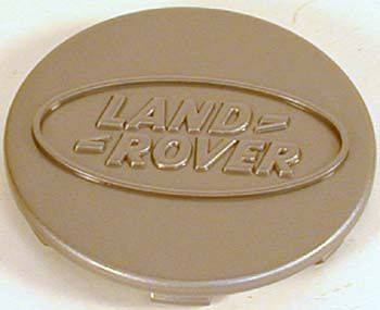 Genuine Wheel Center Cap, Quicksilver With Land Rover Logo, Per Each, For Land Rover Discovery I, 1994-Only (See Fitment Notes)