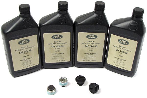 Axle Service Maintenance Kit For Land Rover Discovery Series 2, Includes 4 Quarts Replacement Oil, 2 Drain Plugs, 2 Filler Plugs, And 2 Plug Washers