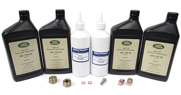 Differential And Axle Service Kit For Range Rover Classic 1987 - 1995, Includes Oil, Swivel Housing Grease, Seals And Hardware