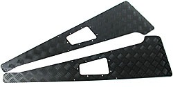 Front Wing Protector Set, Black Diamond Plate, For Land Rover Defender 90 And 110