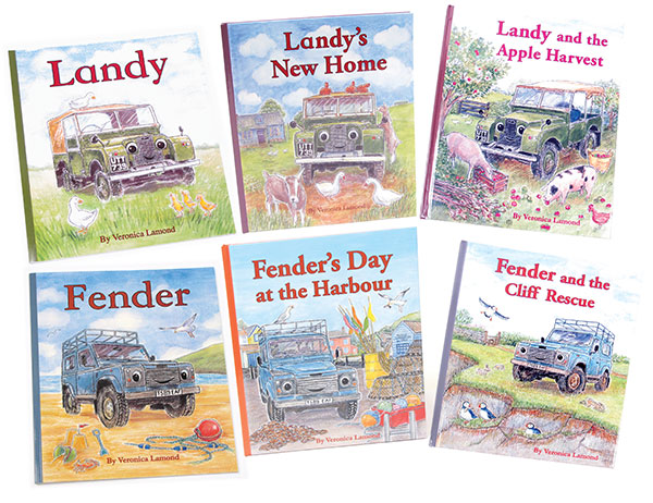Books: Landy And Fender Series, A Children's Land Rover Series Storybook (Set Of 6 Books)