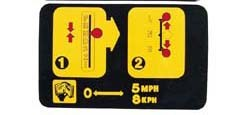 Fuse Cover Instruction Label - 4 Wheel Drive - 1989-1995