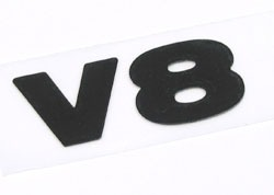 V8 decal