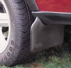 mud flap installed on Land Rover