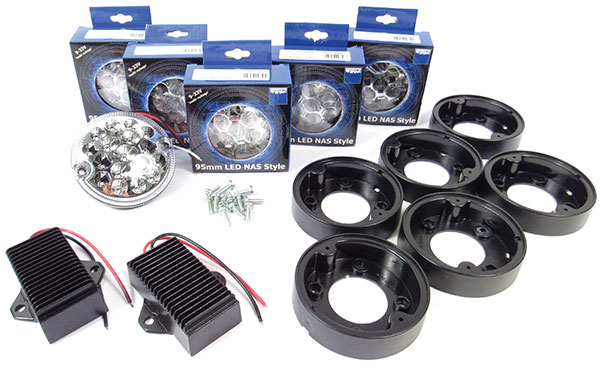 LED upgrade kit for Defender 90