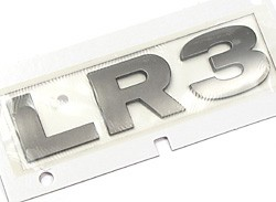 Badge LR3 Tail Door Brunel Chrome