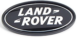 Genuine Land Rover Logo Badge, Rear Tailgate Door, Black And Silver, For Range Rover Sport, Range Rover Full Size L322 And Evoque (See Fitment Years)