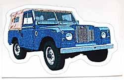 Decal Late Land Rover Series 2A Blue