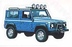 Decal Defender 90 Blue