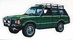 Decal Range Rover Classic Green