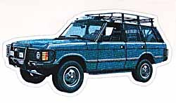 Decal Range Rover Classic Blue