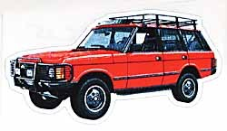 Decal Range Rover Classic Red