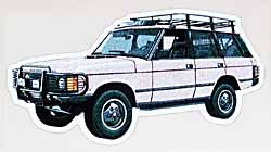 Decal Range Rover Classic White