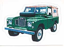 Decal Land Rover Series 3 Green
