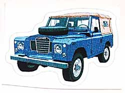 Decal Land Rover Series 3 Blue