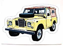 Decal Land Rover Series 3 Limestone