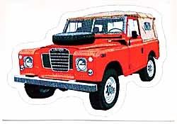 Decal Land Rover Series 3 Red