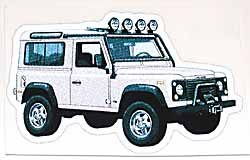 Decal Defender 90 White