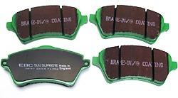 EBC Greenstuff Performance Front Brake Pads For Freelander 2002 - 2005