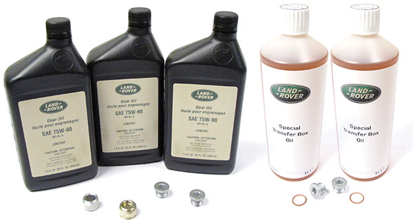 Differential And Transfer Case Service Kit For, Includes Genuine Fluid And Replacement Plugs, For Range Rover Full Size L322 2007 - 2009, For Non-Electronic Differential Vehicles