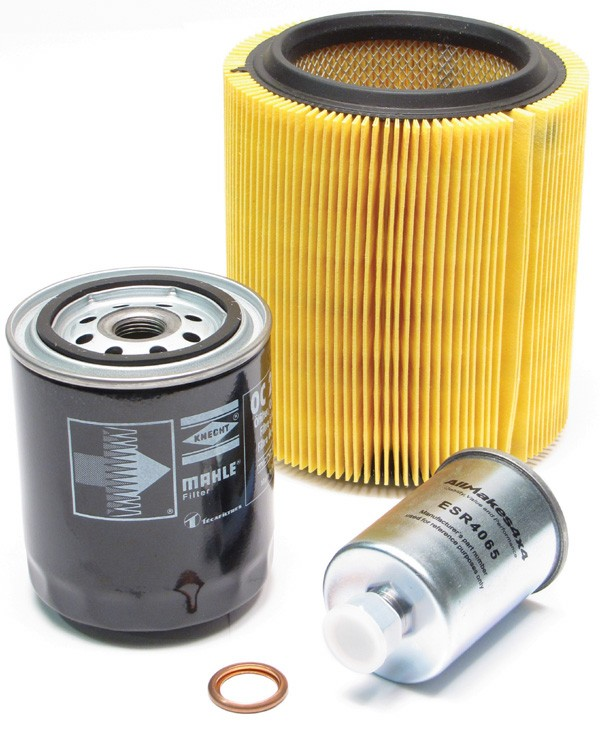 oil, air and fuel filters