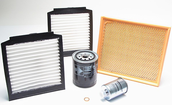 oil, air, fuel and cabin filters