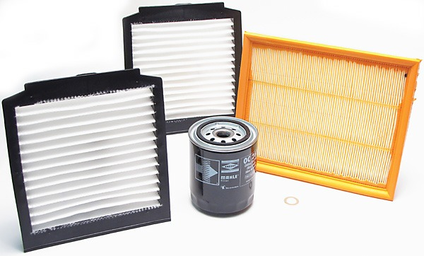 2 pollen filters, oil and air filter