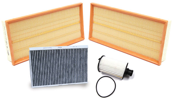 air filter, oil filter, cabin filter