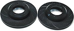 pair of slotted brake rotors