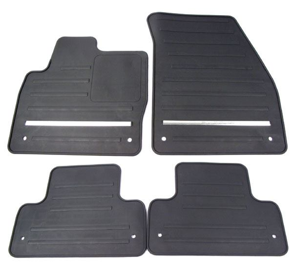black rubber floor mats