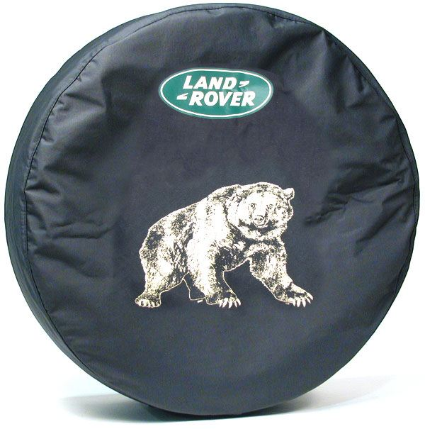 Genuine Wheel Cover For Spare Tire With Land Rover Logo (Bear Design) For Land Rover Discovery I And Discovery Series II
