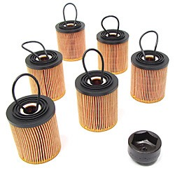 Oil Filter Combo Kit By MANN: 6-Pack Of Filters With Oil Filter Socket