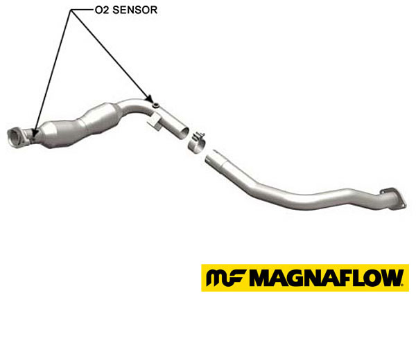 passenger side catalytic converter - Magnaflow